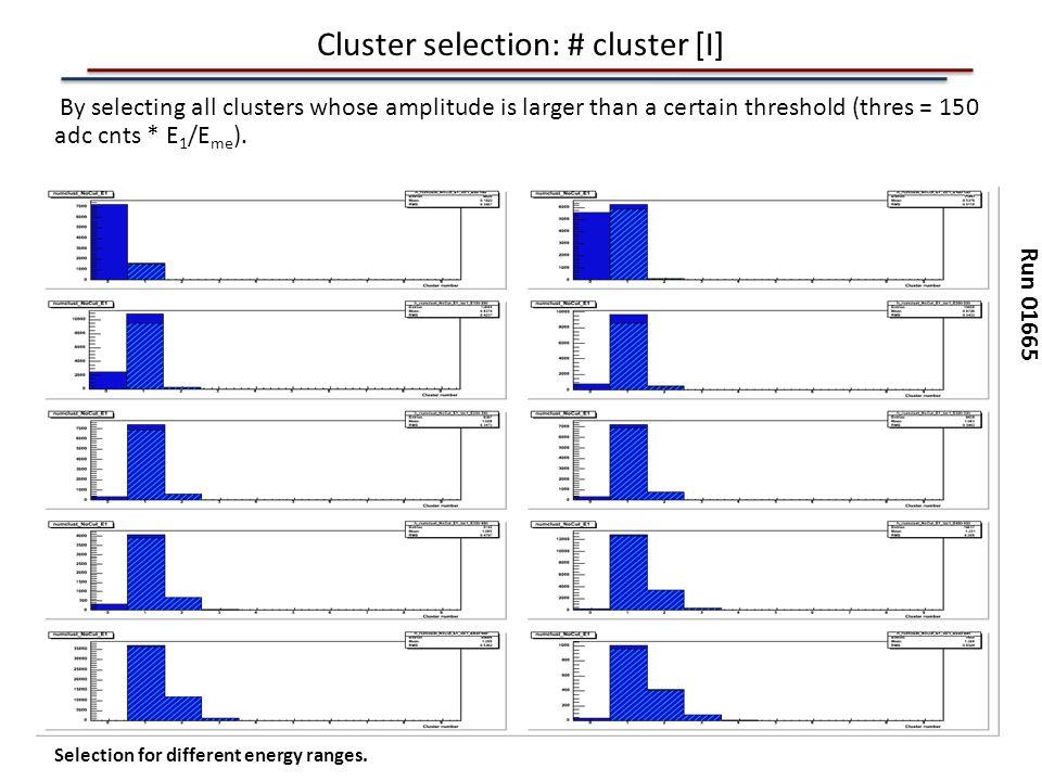 Cluster selection: # cluster [I]